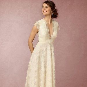 Aaliyah tea-length lace wedding dress